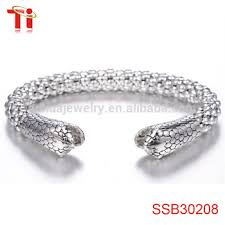 bracelet man silver stainless steel images Stainless steel bracelet corn chain beads bracelet mens snake head jpg