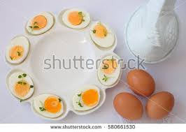 white deviled egg plate boiled eggs white ceramic deviled egg stock photo 580661530