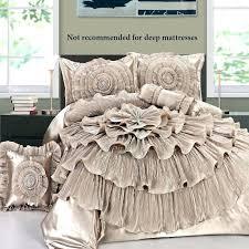Ruffled Bed Set Ruffle Bed Set Comforter Sets White Ruffle Bedding Set Ruffle Bed