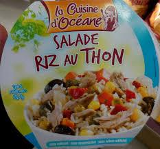 produit cuisine salade riz au thon la cuisine d océane 240 g