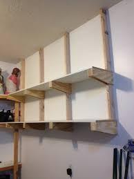 diy corner shelves for garage or pole barn storage inside shelving