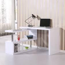 homcom high gloss computer pc desk storage display shelf shelving