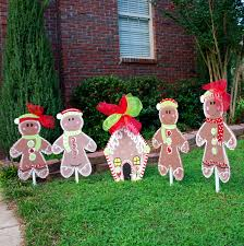 home lawn decoration christmas yard decor gingerbread man christmas decor
