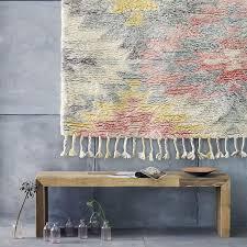 soft shag wool rug 3x5 grey pale pink gold