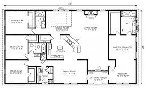 Ranch Homes Floor Plans Four Bedroom Ranch House Plans Ahscgs Com