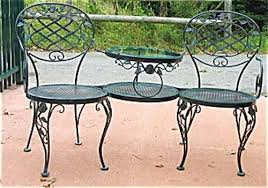 Woodard Wrought Iron Patio Furniture Woodard Wrought Iron Tete A Tete Sold Joan Bogart