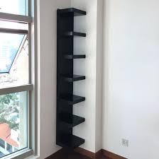 Black Wall Bookshelf Wall Ideas Black Corner Wall Shelf Ldi Black Wall Corner Shelf