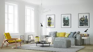 living room design yellow side chair scandinavian living room