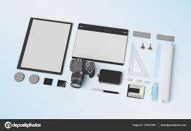 gadgets de bureau produits de marque modèle de maquette fournitures de bureau