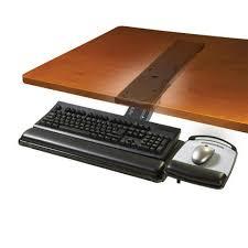 Small Black Desk Canada 3m Adjustable Black Keyboard Tray Akt180le 123inkcartridges