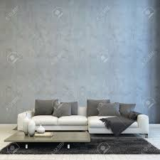 architectural living room design styled with off white couch