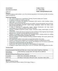 sample business analyst resumes senior business analyst resume