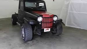 willys jeep pickup for sale dustyoldcars com 1961 willys jeep truck black sn 1026 youtube