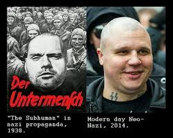 Nazi Meme - the subhuman and a neo nazi nazism know your meme