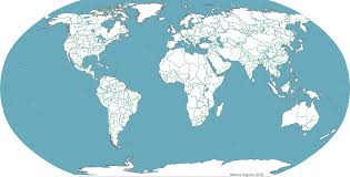 Blank Map Of Continents And Oceans by Marine Regions