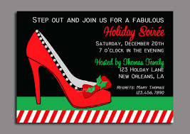 christmas party high heel invitation printable or printed with