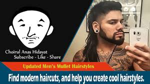 modern day mullet hairstyles updated men s mullet hairstyles youtube