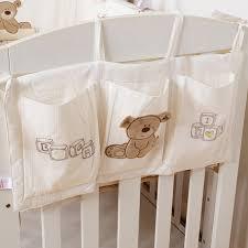 european style baby bed hanging storage bag cotton newborn crib