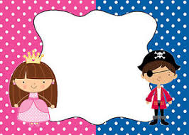 30 cards pirate princess blank invitations thank you note kids
