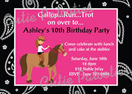 free template for birthday invitation with horses