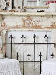 Shabby Chic Fireplace by Interesting To Put A Mirror Over Fireplace Opening During The Non