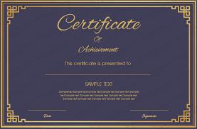 Blue Certificate Template blue certificate of achievement template