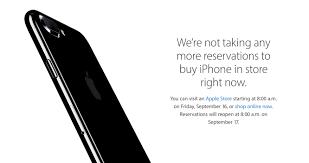 Apple Store Resume Apple To Resume Iphone 7 U0027reserve And Pickup U0027 On Sept 17 In U S