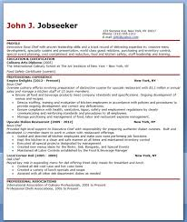 Resume Sample For Cook by Chef Resumes Examples Resume Template For Chef Chef Resume