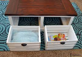 building table with storage crate storage coffee table and stools her tool belt