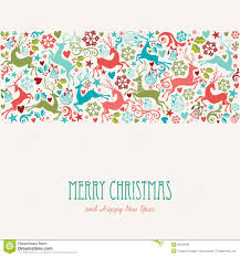merry and happy new year greeting card stock vector