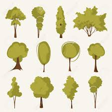illustration tree set royalty free cliparts vectors and stock