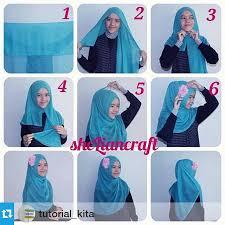 tutorial hijab pashmina tanpa dalaman ninja cara memakai jilbab paris simpel dan modis kiat cantik