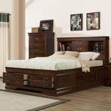 queen bed queen storage bed with bookcase headboard steel factor