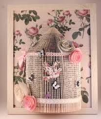 Shabby Chic Bird Cages by Shabby Chic Bird Cage Origami Book Folding By Littlemisssparklegy