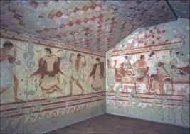 tomb of the triclinium tarquinia italy etruscan c 480 u2013470