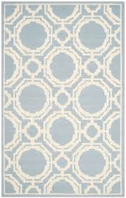 gorgeous pale blue ivory geometric trellis rug