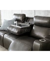 Power Recliner Leather Sofa Oaklyn Leather Sofa With Power Recliners Power Headrests Usb
