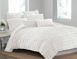 White Ruffled Comforter Bedding Set Lovely Shabby Chic Ruffle Duvet Cover Uncommon