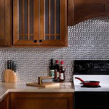 aluminum kitchen backsplash fasade backsplash terrain in brushed aluminum