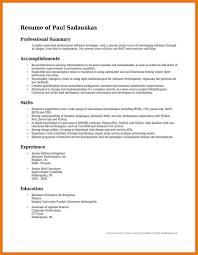 exle of resume summary career summary for resume exles professional resume summary