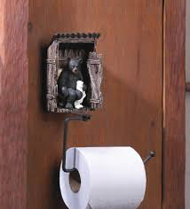 wholesale fun rustic cabin decor bear in outhouse toilet paper