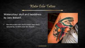 water color tattoos dark bg