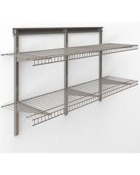 Closetmaid Shelf Track System Don U0027t Miss This Deal Closetmaid Shelftrack 4 Ft Wire Shelf Kit