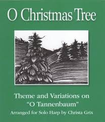 variations on o christmas tree harp column music