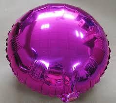 PT0073 Big Round 18 Inch 45 cm Mylar Circle Balloon Big Shiny