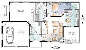 modern home floor plan multi family plan w3046 detail from drummondhouseplans com