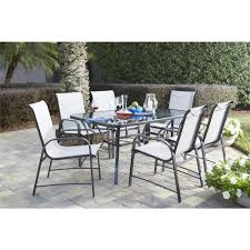 Replacement Glass Table Tops For Patio Furniture by Hampton Bay Pembrey 7 Piece Patio Dining Set Hd14214 The Home Depot