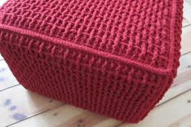 Ottoman Knitted Furniture Amazing Accessories By Knitted Pouf And Knit Pouf