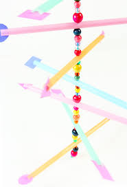 Kids Craft Center - easy kid u0027s craft straw mobile babble dabble do