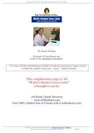 jimmy cover letter top 10 secrets of the worlds greatest cover letter